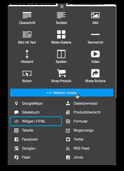 Bild: Widgets und HTML Element