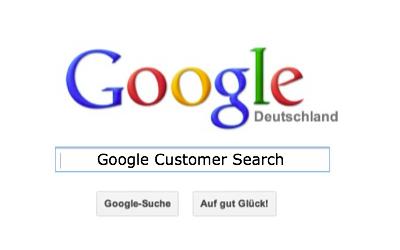 Bild: Google Customer Search mit Jimdo