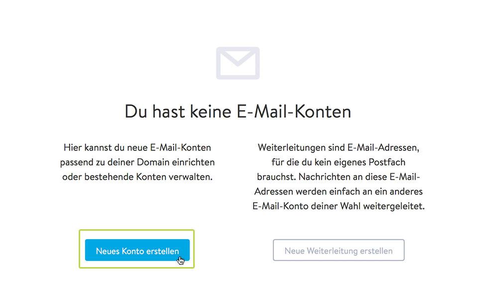 """2. Wähle nun """"Neues Konto erstellen""""."""