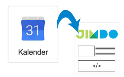 Google Kalender auf Jimdo-Seite einfügen