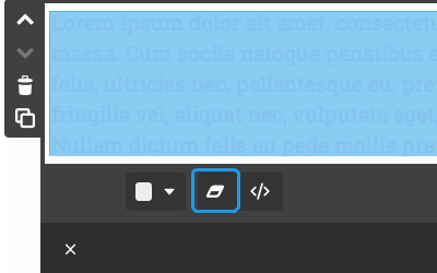 Textfeld: Formatierung entfernen