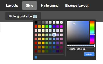 Bild: Style-Optionen Hintergrundfarbe