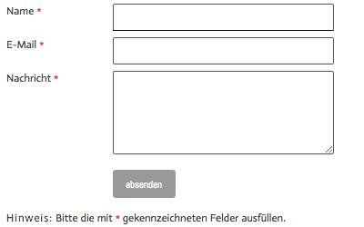 Bild: Standard-Formular nach Einfügen