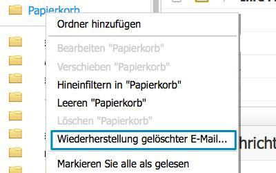 Bild: Jimdo Webmail Wiederherstellung gelöschter E-Mails