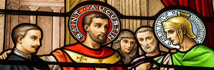 La gloire de Saint-Quirin - Vitrail Haute Chapelle