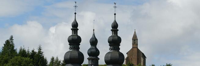 """Eglise Priorale & la Haute-Chapelle - """"La Rose d'Or & la Rose Rouge"""""""