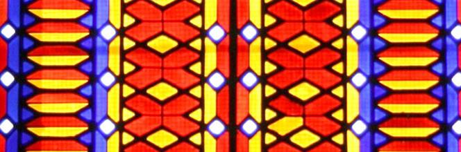 Eglise des Verriers, détail vitrail