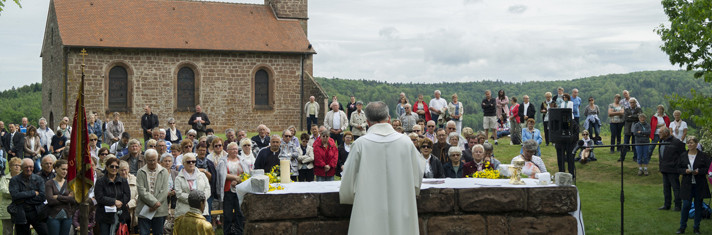 Procession des reliques de Saint-Quirin - Messe en plein air - Jour de l'Ascension
