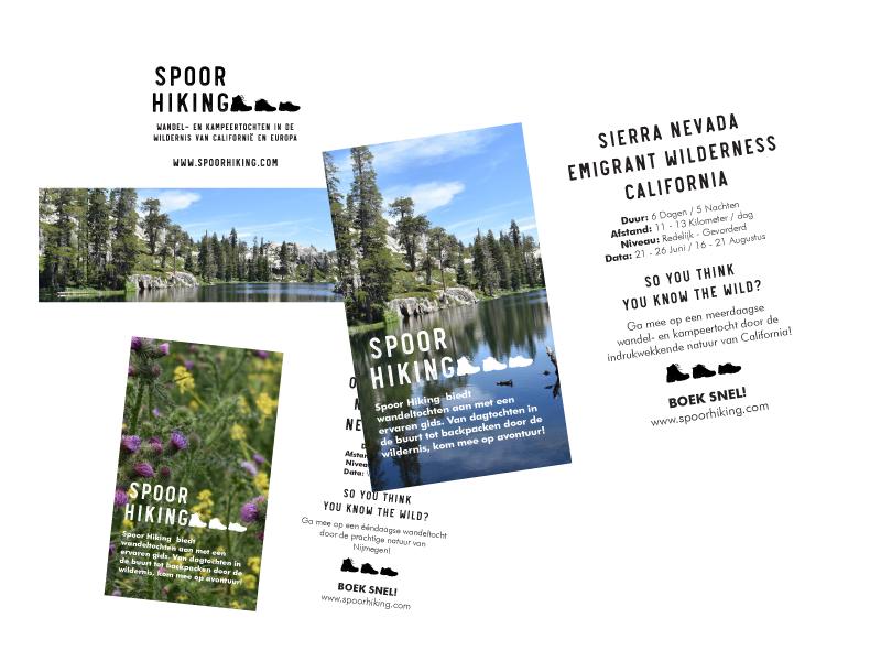 Flyer voor wandel bedrijf / Flyer for hiking company