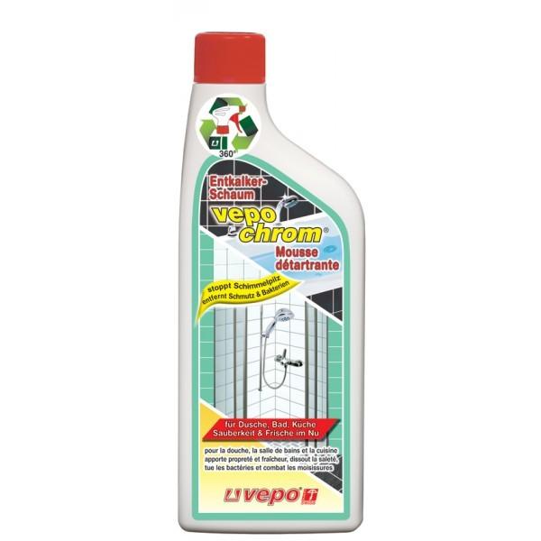 Dusche Aus Glas Oder Kunststoff : Vepochrom Entkalker-Schaum mit Schimmel-Stopp Refill