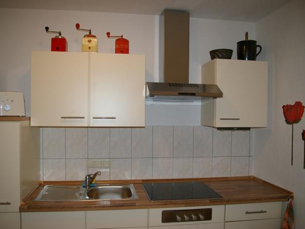 4-Sterne-Ferienwohnung mit Terrasse und Garten in der Nähe von Dresden, Küche mit Fußbodenheizung