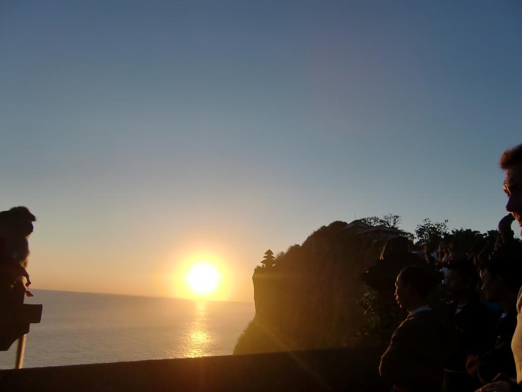 沈む太陽が幻想的
