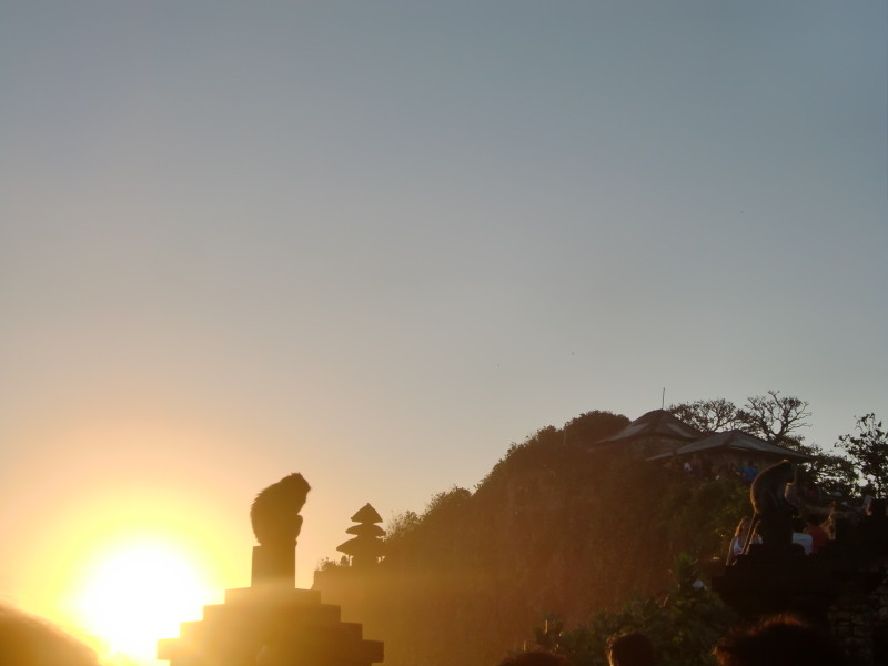 ウルワツ寺院の夕日