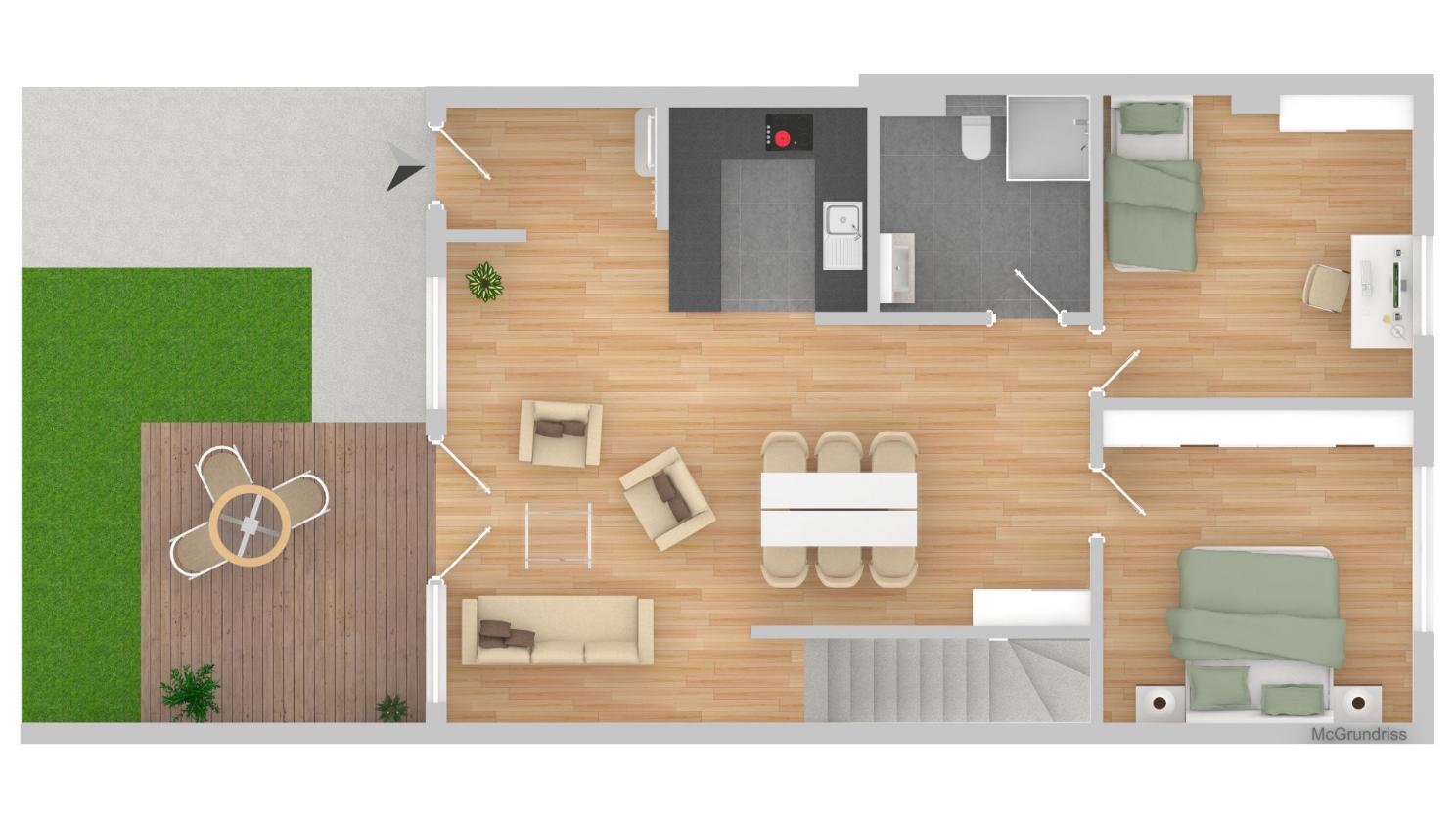 Heinemann Immobilien & Bauprojekte, Haan, Dürerstraße, Wohnung 2, Erdgeschoss