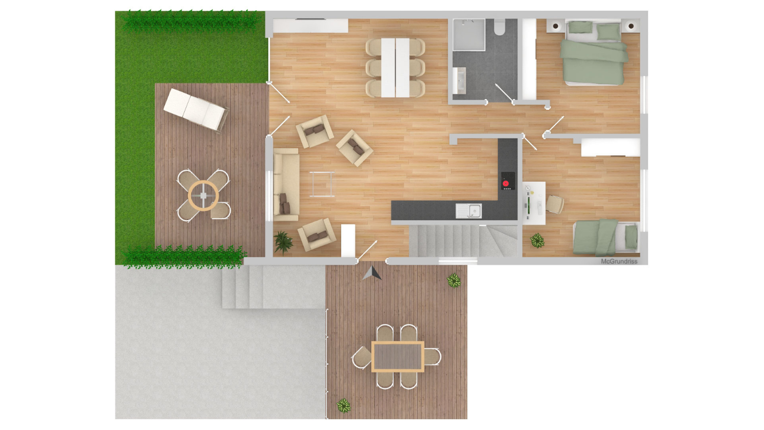 Heinemann Immobilien & Bauprojekte, Haan, Dürerstraße, Wohnung 3, Erdgeschoss