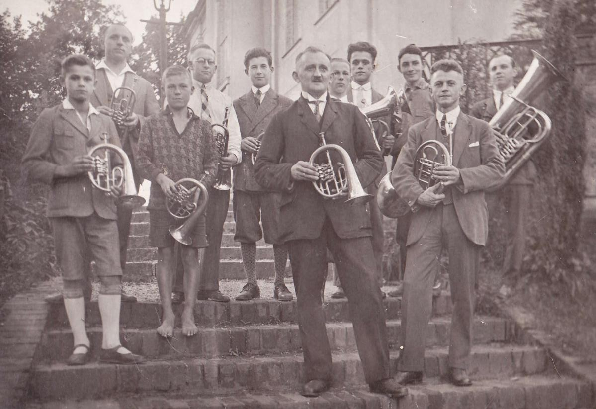 ... bis 1929: Posaunenchor unter Leitung von Max Bermig, der kurz darauf nach Argentinien auswanderte