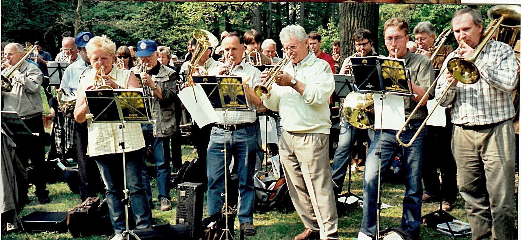 2006: Auftritt der Sächsischen Posaunenmission bei der Landesgartenschau in Oschatz