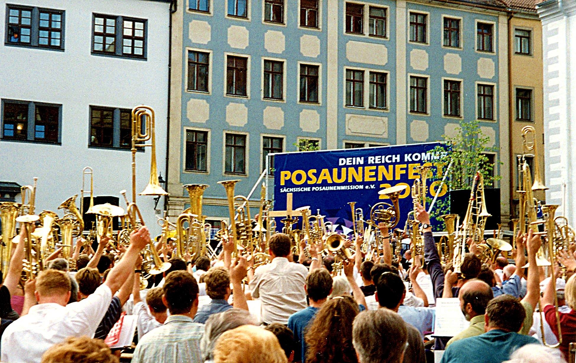 2000: Teilnahme am regionalen Sächsischen Posaunenfest in Meißen, 2002 Sächsisches Posaunenfest in Chemnitz