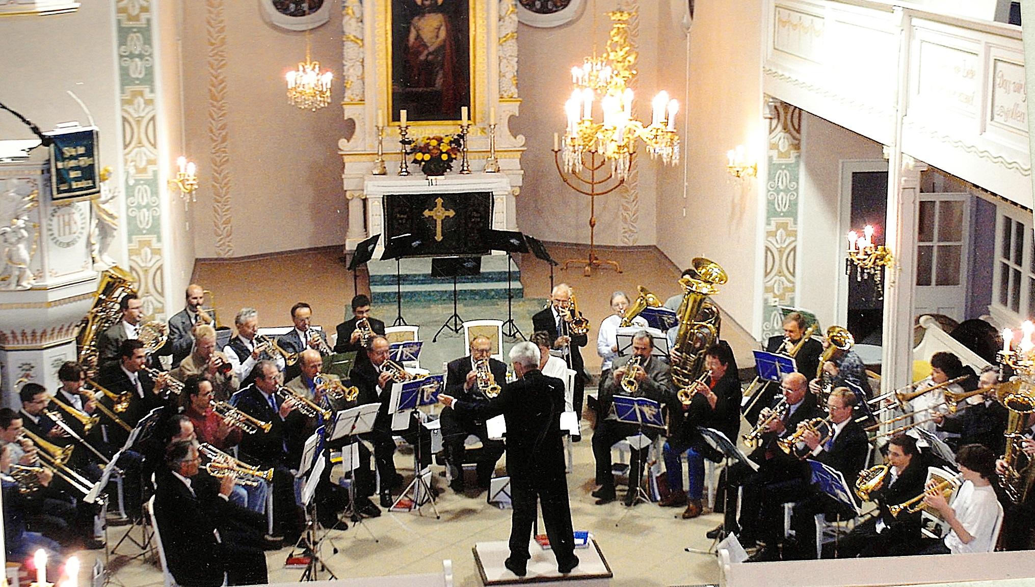2002: Mitwirkung beim 90-jährigen Posaunenchor-Jubiläum in Hohenstein-Ernstthal