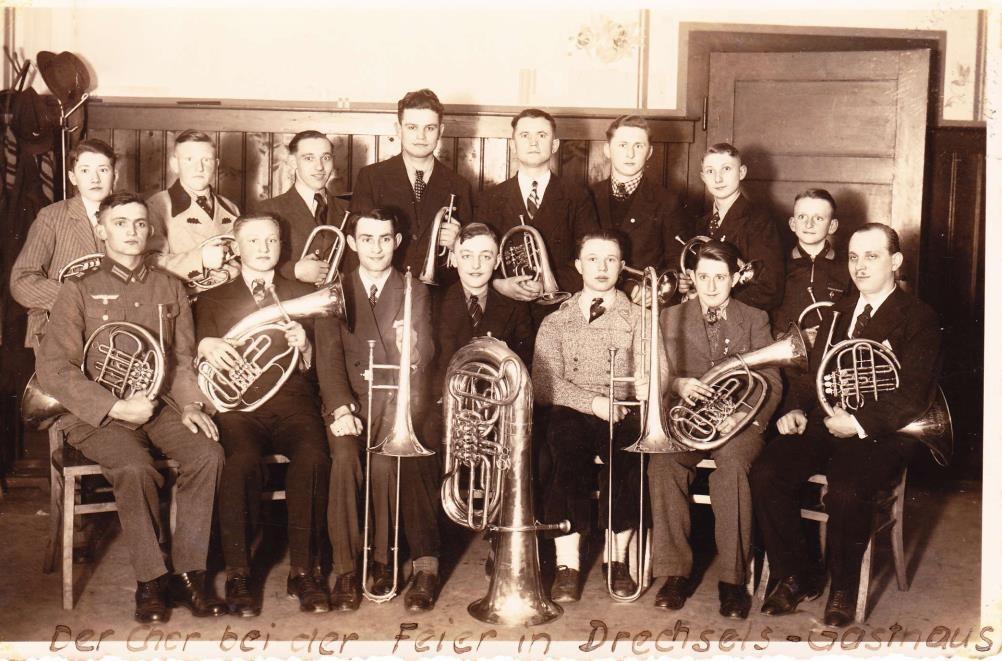 """1938: 25-jähriges Chorjubiläum - mit """"Gastbläsern"""" aus Erfenschlag - Noch 1938 wurden alle VEREINE von den Nazis VERBOTEN !"""