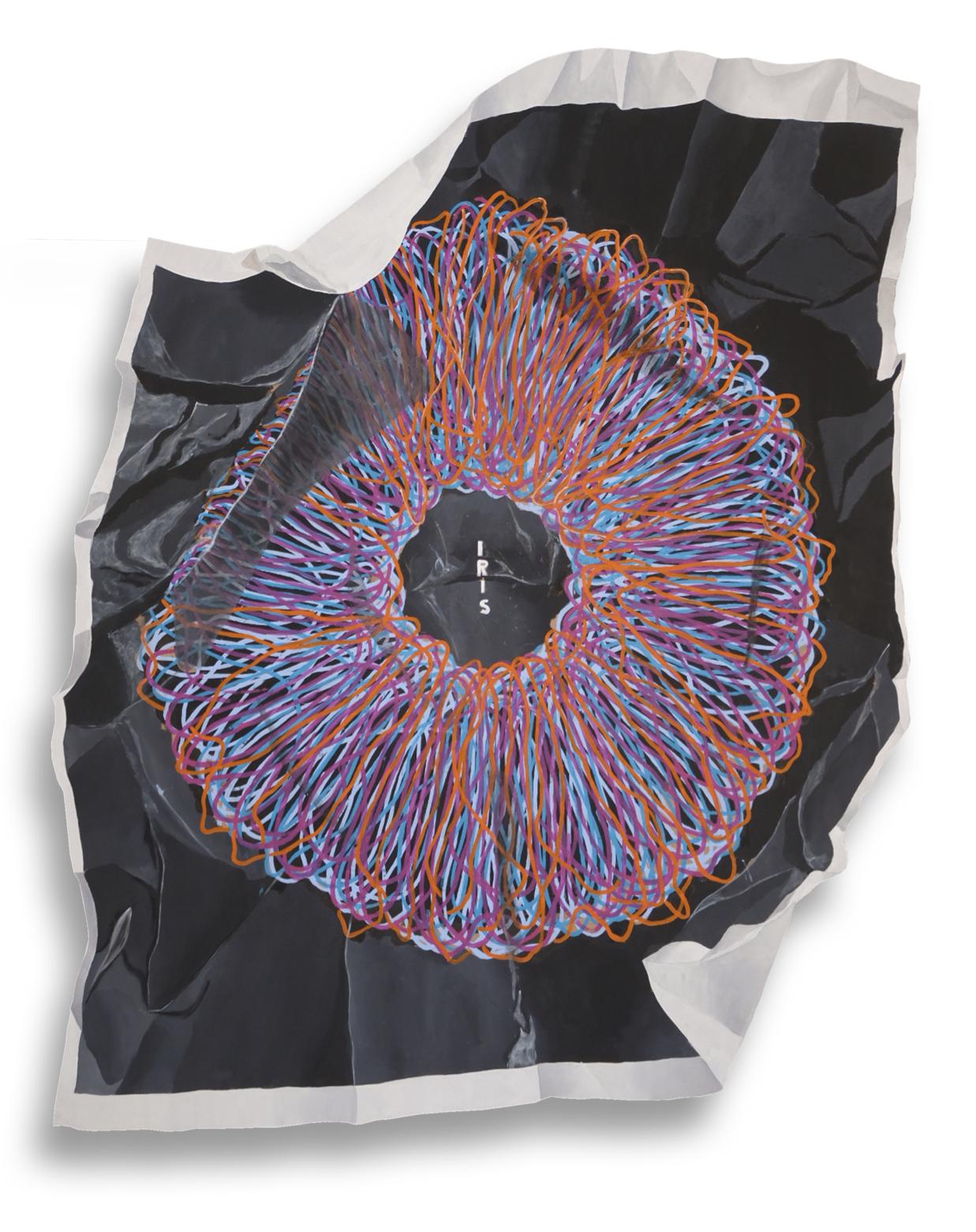 Iris - 2020 - Collaboration with Alex Spoettel (MediaDesign) - 160cm x 150cm (SOLD)