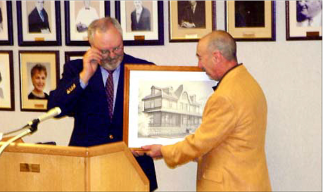 Councilman Walsh honors John Celardo, Historic Preservation Commission, 2008