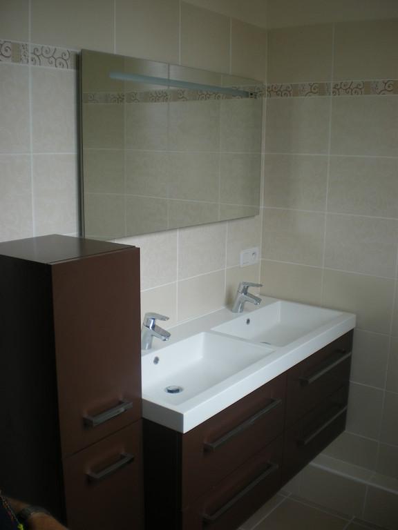 Plan vasque avec meuble et robinetterie HANSGROHE en Savoie