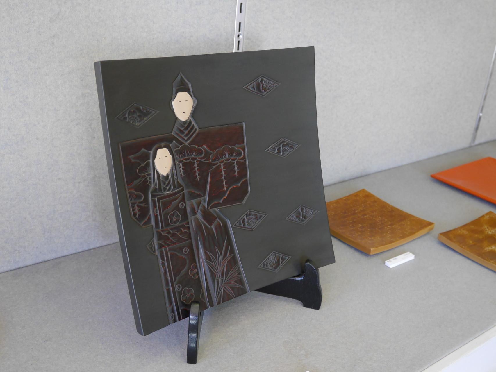 鎌倉彫 立ち雛|鎌倉漆工房いいざさ