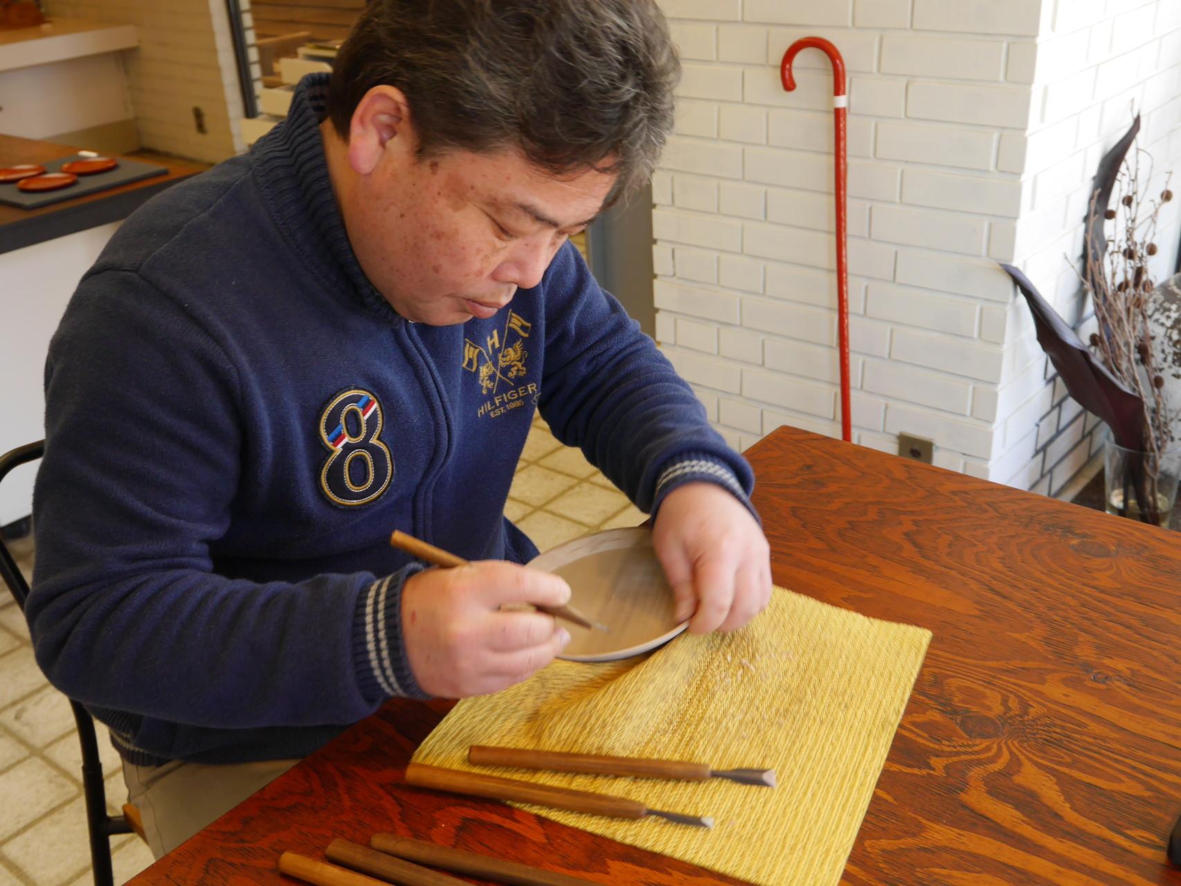鎌倉漆工房いいざさ|鎌倉彫 勾配盆