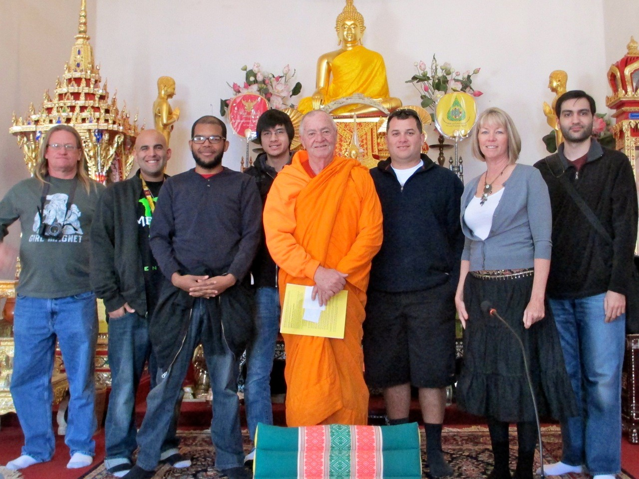 With Abbot Bill at Wat Promkunaram