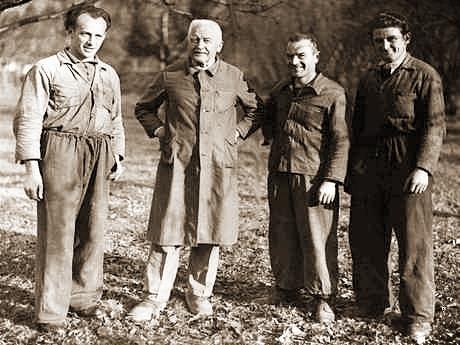 Nachfolger Ludwig BRÖLL (2ter von links) im Jahre 1959