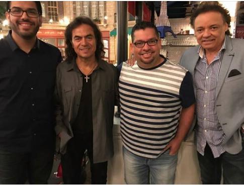 Con Boby Reynoso, Roberto (Industria del amor) y Nestor Daniel (Los Terricolas)