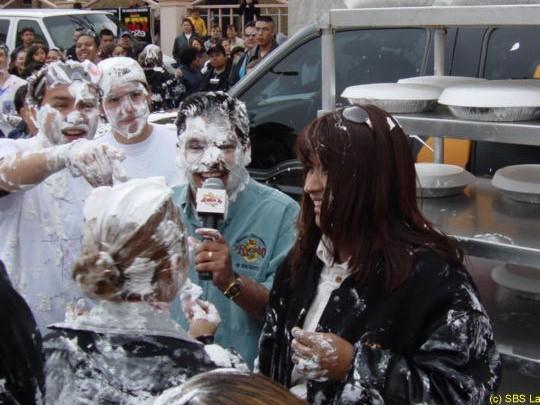 La negra y yo, en la guerra de los pasteles