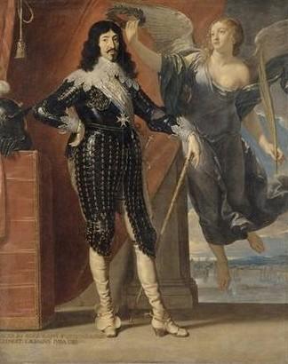 de CHAMPAIGNE Philippe, LOUIS XIII COURONNE PAR LA VICTOIRE