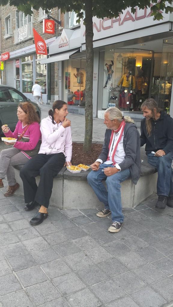 Pommes Pause in Belgien