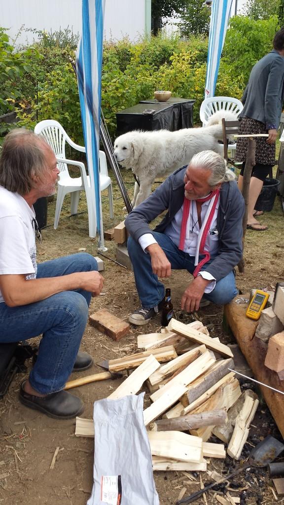 Ed van Dijk in Gespräch mit Rolf