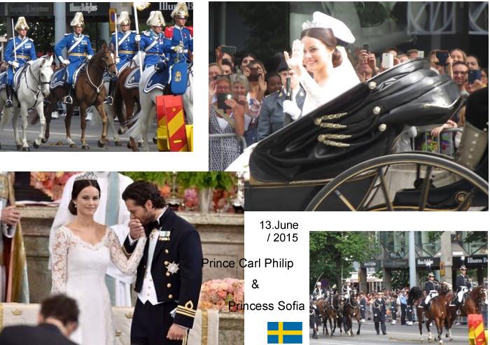 2015年6月、スウェーデン王室の結婚セレモニーが行われました。