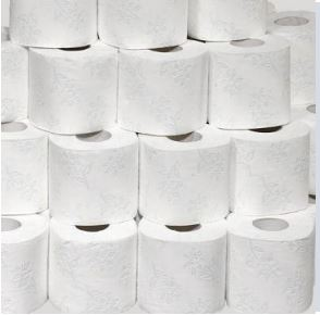 Einsparung von Toilettenpapier