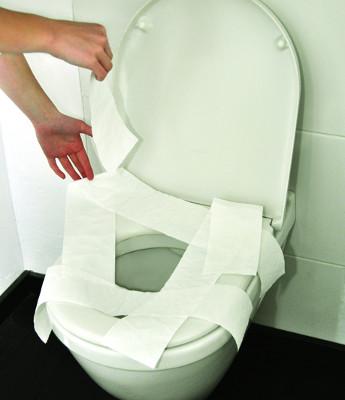 Gegen Auslegen der WC-Brille