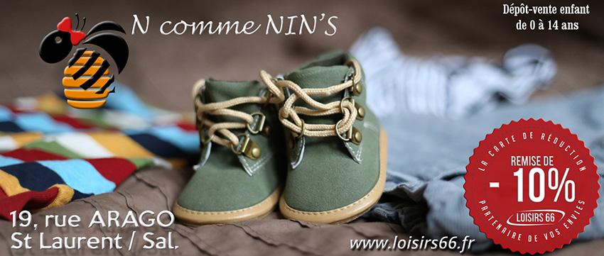N comme Nin's St Laurent, réduction LOISIRS 66