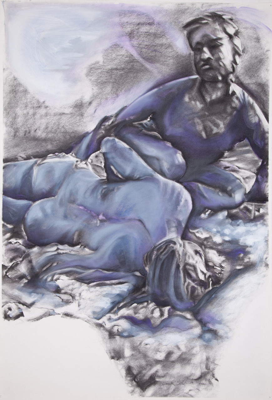 Ver - Lust, 2001/13, 120 x 85,5 cm, charcoal and oil on paper