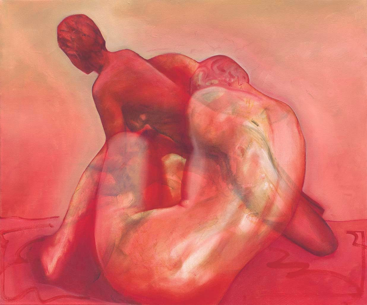 Inside the Story Oil , 2005, 55 x 66 cm, oil on canvas