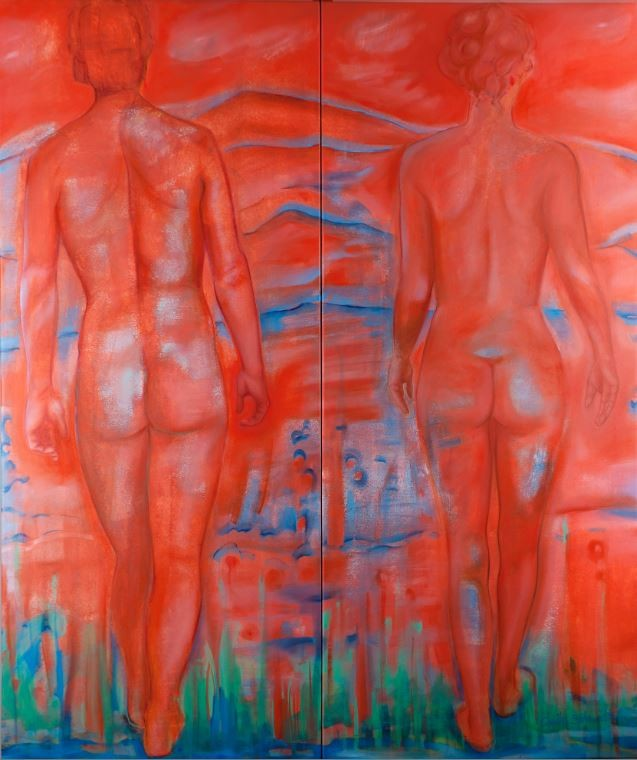 Walking Beyond, 2013, 150 x 127 cm, Oil on canvas