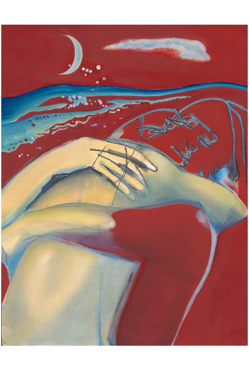 Falling Star, 2005, 65 X 50 cm, oil on cardboard,