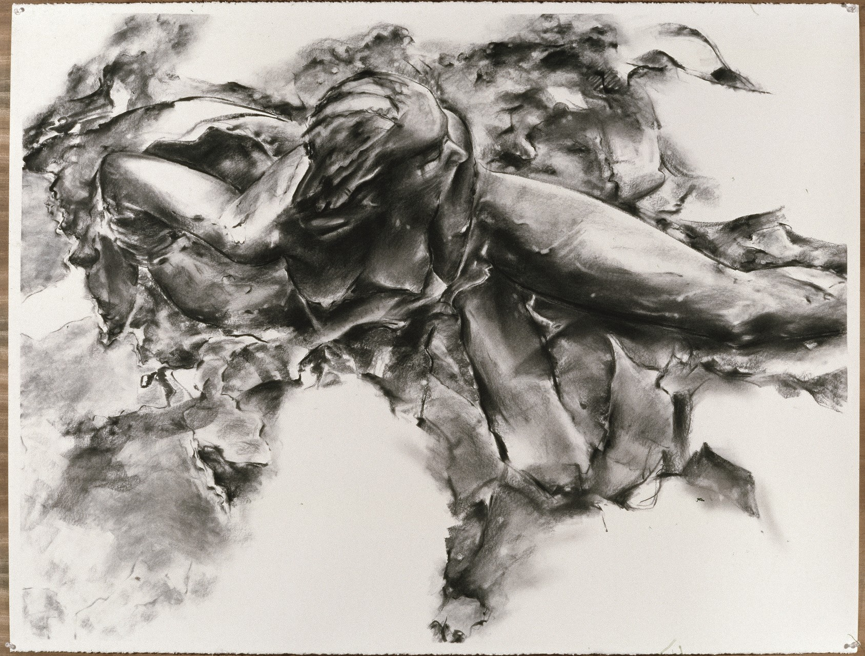 Becoming, 2006, 114 x 142 cm, charcoal on paper
