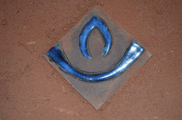 Logo Flamme bleue / Haute-savoie / Rhône-alpes / France