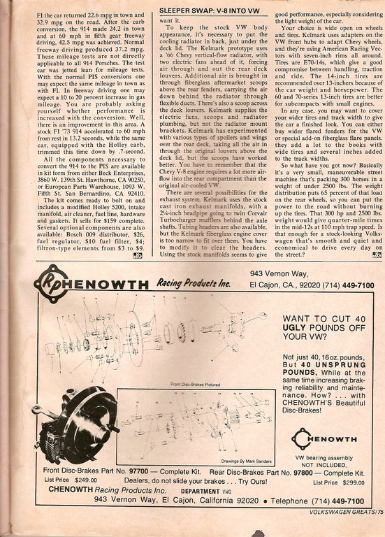 Chenowth - Original zur aktuellen CSP- Männerlochkreis- Bremse