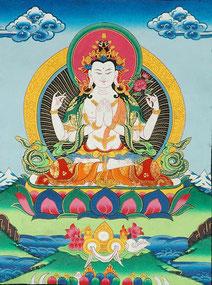 Guanyin sous sa forme à quatre bras