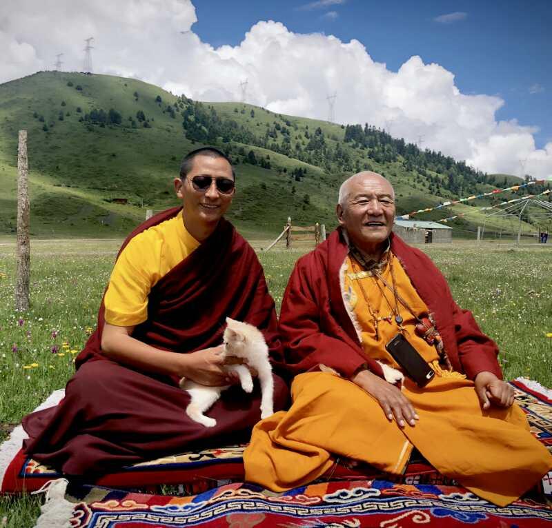 Gyalwai Nyugu Rinpoche et Mozar Rinpoche