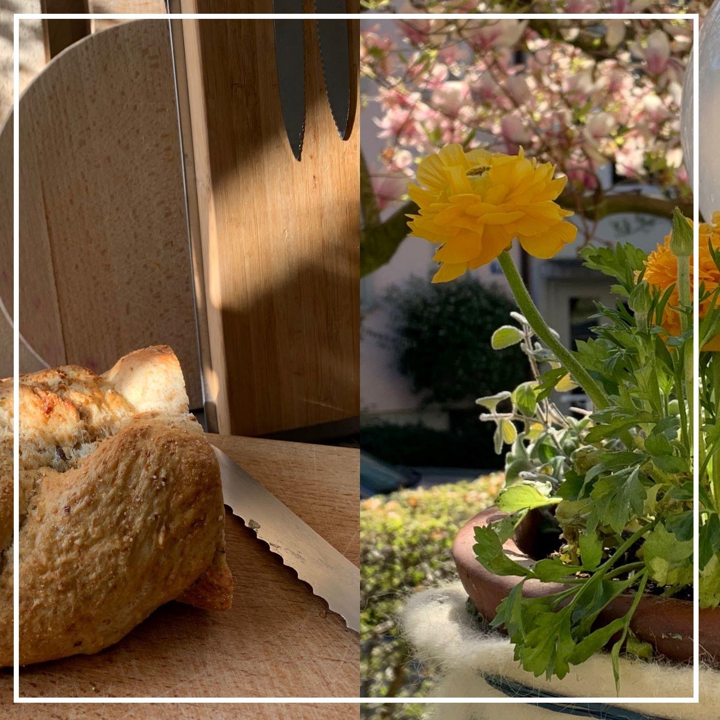 Sonntagszopf und  Blumen pflanzen